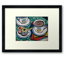 Tea for Three - Tea and Cake Section  Framed Print