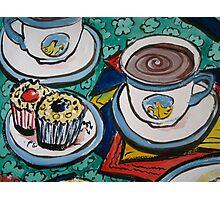 Tea for Three - Tea and Cake Section  Photographic Print