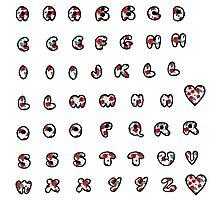 Floral alphabet Photographic Print