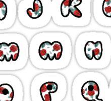 Floral alphabet Sticker