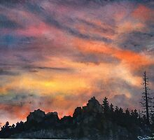"""Rocky Sunset"" by Christie Elder"