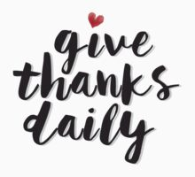 Give Thanks Daily One Piece - Long Sleeve