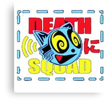 DeathSquad | Logo | White Background | HIGH QUALITY Canvas Print