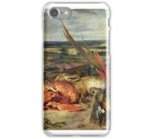 EUGENE DELACROIX,  STILL LIFE WITH LOBSTERS iPhone Case/Skin