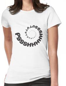 PSHHSUTUTU - Turbo Dose Boost Noise JDM Window Sticker / Tee - Black Womens Fitted T-Shirt