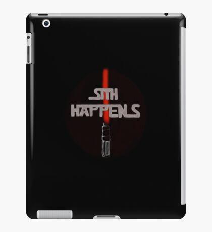 Sith Happens With Darth Vader Saber iPad Case/Skin