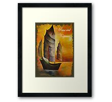 Peace and Happiness Christmas Greetings Framed Print