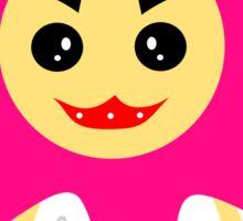 Cheeky Germ Sticker - Magenta Color Sticker