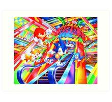 Sonic the Hedgehog in Joypolis Art Print