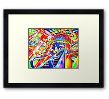 Sonic the Hedgehog in Joypolis Framed Print