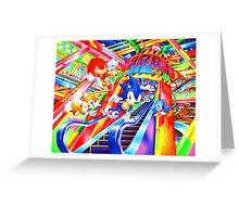 Sonic the Hedgehog in Joypolis Greeting Card
