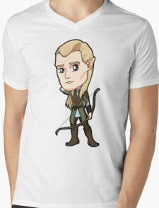 Lord of the Rings - Legolas the Elf with Bow Mens V-Neck T-Shirt