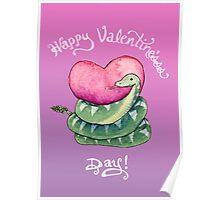 Valentines Snake Poster