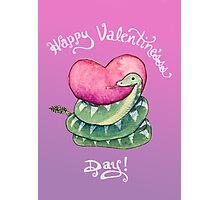 Valentines Snake Photographic Print