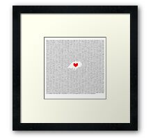 Romeo and Juliet: Juliet's Monologue in Binary  Framed Print