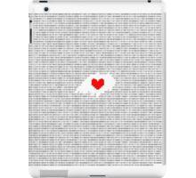 Romeo and Juliet: Juliet's Monologue in Binary  iPad Case/Skin