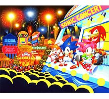 Sonic the Hedgehog live in concert! Photographic Print