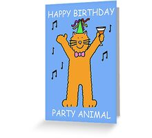 Children's Birthday Party Animal Cat Greeting Card