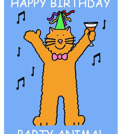 Children's Birthday Party Animal Cat Sticker