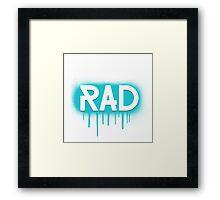 Rad Simple Graffiti Drip Framed Print