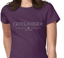 Outlander est 1743 (SILVER) Womens Fitted T-Shirt