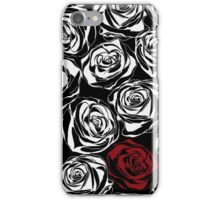 Seamless pattern with black roses flowers.  iPhone Case/Skin