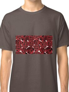 Pattern with red roses Classic T-Shirt