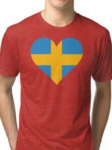 A heart for Sweden Tri-blend T-Shirt