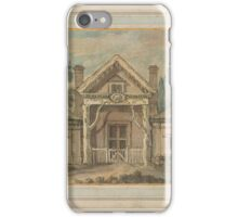 Robert Adam  A Lodge with a Rustic Portico Pen and brown ink, and watercolor over preliminary drawing in black chalk, on paper. iPhone Case/Skin