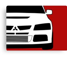 Mitsubishi Lancer Evo - Zoom Close Up Left Side Corner Edge - Sticker / Case Design Canvas Print
