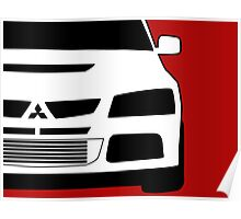 Mitsubishi Lancer Evo - Zoom Close Up Left Side Corner Edge - Sticker / Case Design Poster