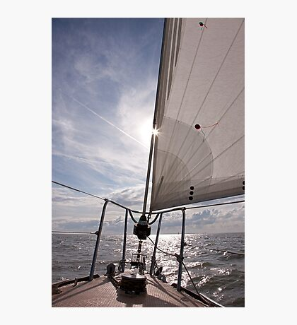 Sailing into the Sun Photographic Print