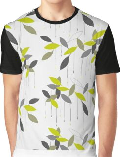 Abstract pattern with green leaf. Graphic T-Shirt