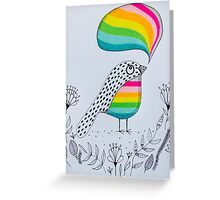 Colourful thinking Greeting Card