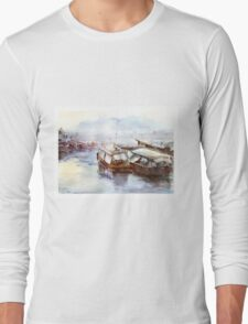House-boat in Thailand Long Sleeve T-Shirt
