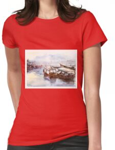 House-boat in Thailand Womens Fitted T-Shirt