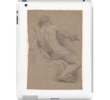 French School 18th century Seated Draped Nude Seen Three-Quarters from the Back. iPad Case/Skin