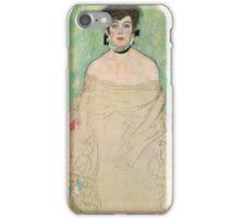 Gustav Klimt - Portrait of Amalie Zuckerlandl iPhone Case/Skin