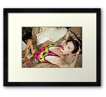Palm Trees Swimsuit Framed Print