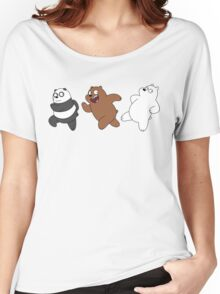 We Bare Bears Sneaking Women's Relaxed Fit T-Shirt