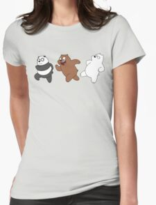 Bears Sneaking Womens Fitted T-Shirt