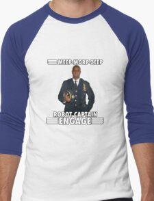 Robot Captain Engage Men's Baseball ¾ T-Shirt