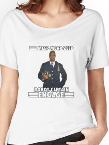 Robot Captain Engage Women's Relaxed Fit T-Shirt