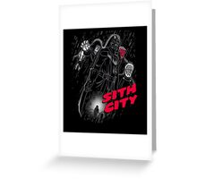 Sith City (Colab with  LgndryPhoenix) Greeting Card