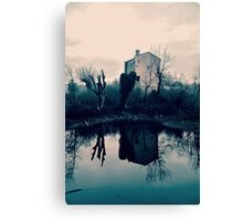 Wall on the Mirror Canvas Print
