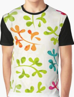 Floral pattern with cute leaves Graphic T-Shirt