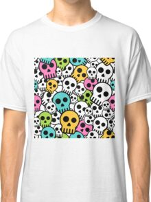 Cute Colorful Skull Design Classic T-Shirt