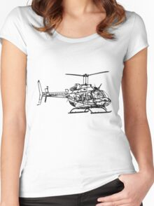 Bell 206L4 Helicopter Women's Fitted Scoop T-Shirt