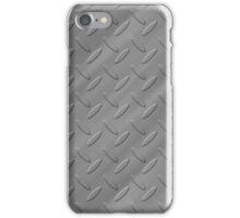 Metal - silver checker plate iPhone Case/Skin