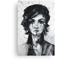 Cherie in black and white Canvas Print